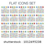 vector illustration of flat... | Shutterstock .eps vector #1012695238