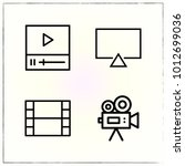video line icons set player and ... | Shutterstock .eps vector #1012699036