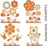 flowers set   Shutterstock .eps vector #101269912