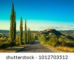 tuscany  montegiovi medieval... | Shutterstock . vector #1012703512