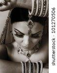 indian women dressed up in... | Shutterstock . vector #101270506
