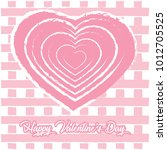 happy valentines day greeting... | Shutterstock .eps vector #1012705525
