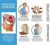 parkinsons disease infographic | Shutterstock .eps vector #1012714582