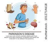 parkinsons disease infographic | Shutterstock .eps vector #1012714618