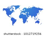vector world map global earth... | Shutterstock .eps vector #1012719256