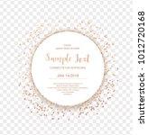 copper glitter circle frame... | Shutterstock .eps vector #1012720168