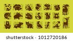 vector collection of flat cute... | Shutterstock .eps vector #1012720186