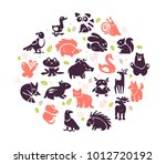 vector collection of flat cute...   Shutterstock .eps vector #1012720192