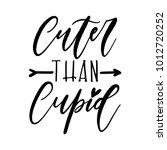 cute valentine's day lettering... | Shutterstock .eps vector #1012720252