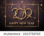 2019  happy new year... | Shutterstock .eps vector #1012720765