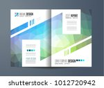 brochure template  flyer design ... | Shutterstock .eps vector #1012720942