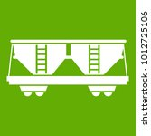 freight railroad car icon white ... | Shutterstock .eps vector #1012725106