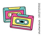 cassettes recorder tape music... | Shutterstock .eps vector #1012725532