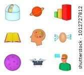 brilliant thought icons set.... | Shutterstock .eps vector #1012727812