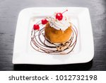 fried ice cream topped with... | Shutterstock . vector #1012732198