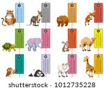 wild animals and time tables... | Shutterstock .eps vector #1012735228
