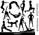 workout silhouettes | Shutterstock .eps vector #101274142