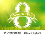 women's day greeting card with... | Shutterstock .eps vector #1012741606