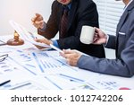 attorneys giving consultation... | Shutterstock . vector #1012742206