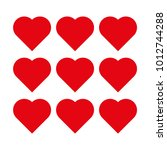 heart icon vector with red... | Shutterstock .eps vector #1012744288
