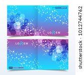 scientific templates square... | Shutterstock .eps vector #1012744762