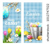 cute easter vertical banners... | Shutterstock .eps vector #1012747522