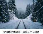 Train Tracks Leading Through...