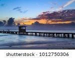 isla mujeres sunset on the... | Shutterstock . vector #1012750306