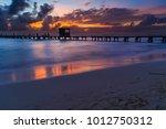 isla mujeres sunset on the... | Shutterstock . vector #1012750312