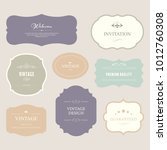 set of premium label for design ... | Shutterstock .eps vector #1012760308