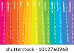 creative wall calendar 2019... | Shutterstock .eps vector #1012760968