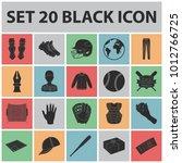 baseball and attributes black... | Shutterstock . vector #1012766725