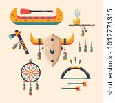 set of native american indian... | Shutterstock .eps vector #1012771315