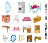 furniture and interior cartoon... | Shutterstock . vector #1012771882