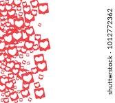 social media icons. network... | Shutterstock .eps vector #1012772362