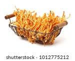 fresh cordyceps mushroom on... | Shutterstock . vector #1012775212