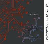circuit board  technology... | Shutterstock .eps vector #1012776106