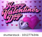 3d illustration of hearts with... | Shutterstock . vector #1012776346