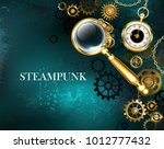 steampunk magnifying glass with ...