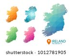 ireland map   set geometric... | Shutterstock .eps vector #1012781905