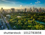 lumpini park in center of... | Shutterstock . vector #1012783858