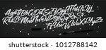 hand drawn lettering set.... | Shutterstock .eps vector #1012788142