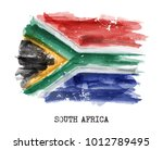 watercolor painting flag of... | Shutterstock .eps vector #1012789495