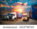 logistics and transportation of ... | Shutterstock . vector #1012798765