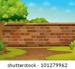 Illustration Of A Brick Wall I...