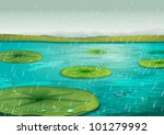 Raining On The Lily Pads