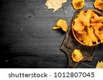 Fresh Chanterelle Mushrooms In...