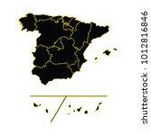 vector map spain provinces... | Shutterstock .eps vector #1012816846