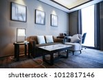 elegant and comfortable home  ...   Shutterstock . vector #1012817146