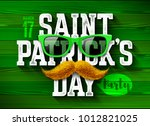 saint patrick's day  feast of... | Shutterstock .eps vector #1012821025